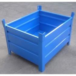 钢制料箱物料箱料筐钢料箱金属箱铁质零件箱铁周转框料箱
