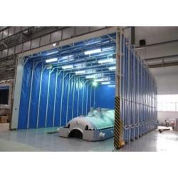 工业喷漆环保移动伸缩房