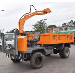 小型四不像随车挖多功能挖掘装载运输一体机拉土专用车