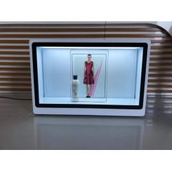 东莞惠华32寸透明屏商品展示柜、展厅透明橱窗