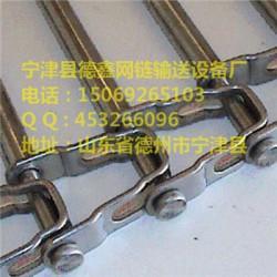 不锈钢大孔链板螺旋输送带-山东德鑫网链输