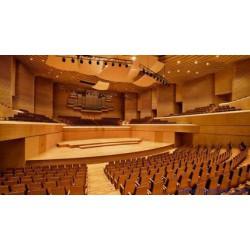 青岛会议室墙面环保实木吸音材料剧院阻燃槽木隔声板