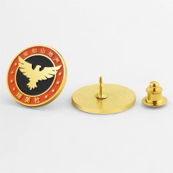 定做金属徽章 logo徽章制作 立体金属徽章制作厂家