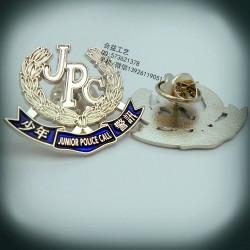 异形金属徽章  烤漆滴胶襟章  公司表彰徽章生产厂