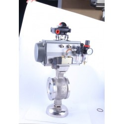 专业气动V型对夹球阀-V型切断阀厂家