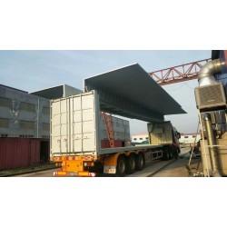 订做飞翼集装箱价格 沧州电动液压飞翼集装箱厂家定制