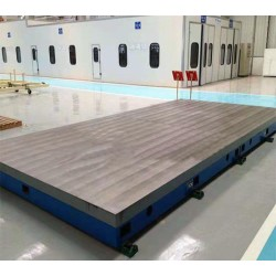 机械划线平板 多规格铸铁平台加工 装配T型槽平台 加厚划线