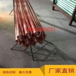 铜包钢接地棒14.2-2500铜包钢接地极铜覆钢接地极垂直