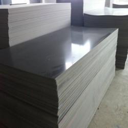 深圳PVC板深灰色PVC板厂家阻然耐化学腐蚀聚氯乙烯板