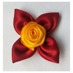 韩板发饰半成品烧边玫瑰花 手工蝴蝶结发饰材料 服装辅料花朵