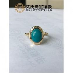 珠宝首饰高端设计定制,绿松石吊坠专业镶嵌